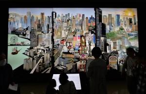 巨大さに圧倒される「日本一大阪人パノラマ」