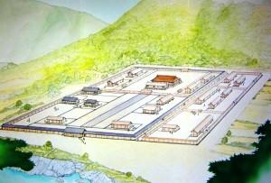 奈良時代の「吉野離宮」の復元イメージ図(吉野町教委作成)