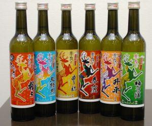 カラフルなラベルデザインの「奈良のひや酒」